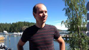 Ralf Wadenström i hamne på det annekterade området.