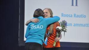 Victoria Lindgren från Optima i Jakobstad fick guldmedalj i Mästare 2017 tävlingen