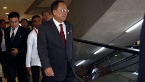 Även Nordkoreas utrikesminister  Ri Yong-Ho upphöjdes till Arbetarpartiets politbyrå