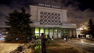 Köpcentret Perekrestok där explosionen ägde rum.
