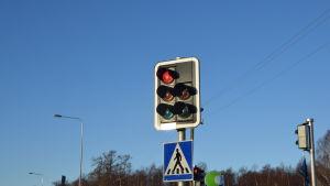 Trafikljus i Raseborg.
