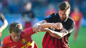 Tim Sparv under en match i den danska ligan.