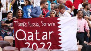 Qatar arrangerar fotbolls-VM 2022.