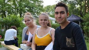 Ann-Marie, Emma och Manolis.
