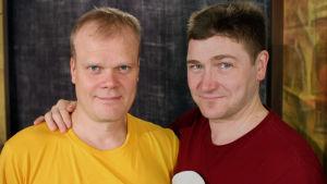 Skådespelarna Oskar Silén och CG Wentzel