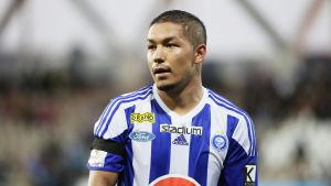 Moshtag Yaghoubi spelade för HJK säsongen 2018.