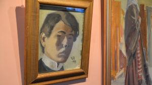 Valle Rosenbergs självporträtt, en liten tavla