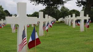 krigskyrkogården i Colleville sur Mer.