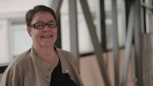 En glad Marianne Laxén
