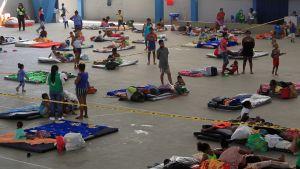 Tiotusentals människor evakuerades i Nicaragua, Honduras och Colombia inför orkanen Iota. Bilden är från Cartagena i Colombia.