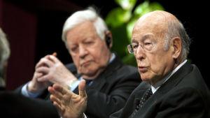 Valéry Giscard d'Estaing och Tysklands förre förbundskansler hade ett nära politiskt samarbete och de var också goda vänner.