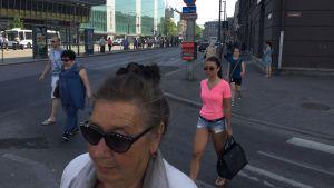 Gatubild i centrum av Tallinn