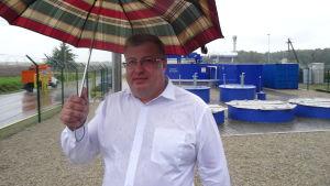 Dimitri Moiseev, arbetsledare på metangaskraftverket i Vitebsk