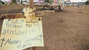 kors för dödade pojken Alvaro Conrado