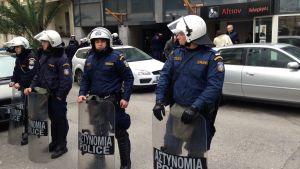 grekiska kravallpoliser