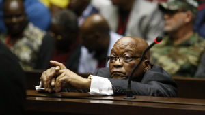 Sydafrikas förra president Jacob Zuma i rättegång.