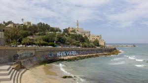 Vy över Jaffa från Tel Aviv.