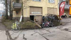 Cykelservice på Drumsö