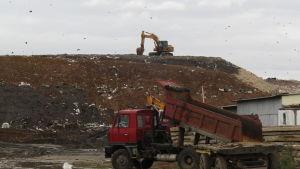 Varje dag kommer det 25 lastbilslass avfall från Moskva till Kolomna.