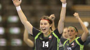 Greta Kavaliauskaite gjorde elva mål mot Finland.