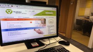 e-tjänster på arbets- och näringsbyrån i Böle