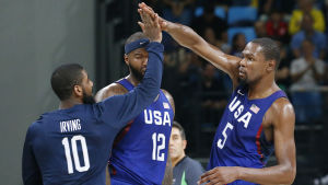 Kyrie Irving, DeMarcus Cousins och Kevin Durant