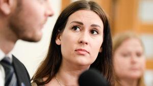 Tiina Elovaara, vice-ordförande för riksdagsgruppen Blå framtid.