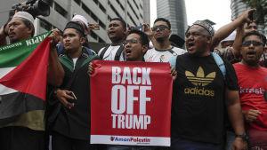Demonstration i Malaysia mot Trumps beslut att erkänna Jerusalem som Israels huvudstad