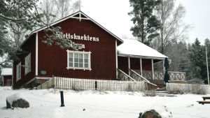 Slottsknektens stuga vid Raseborgs slott.