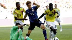 Yuya Osako i farten mot Colombia.