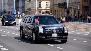 En bild på USA:s presidents bil the Beast