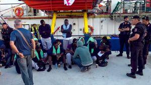 Migranter i Lampedusa 29.6.2019