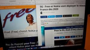 Artiklar på franska.