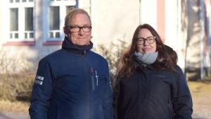 Personporträtt på Denis Strandell och Janina Lindfors