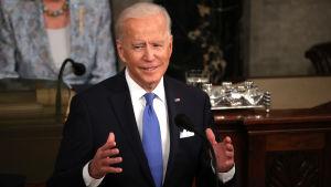 Joe Biden talade om framtidshopp och samarbete över partigränserna.
