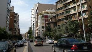 Kvarteret där Finlands ambassad kommer att finnas i Beirut