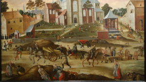 Belgisk medeltida illustration av digerdöden