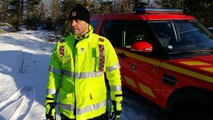 Jourhavande brandchef Kari Alanko vid Egentliga Finlands Räddningsverk.