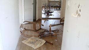 Vandalism i Villa Soltuna i Nickby
