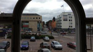Utsikt över Krämaretorget i Borgå