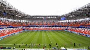 Bild på VM-stadion i Saransk.