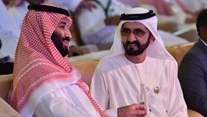 Saudiarabiens kronprins Mohammed bin Salman och Förenade arabemiraternas vicepresident och premiärminister shejk Mohammed bin Rashid al-Maktoum.