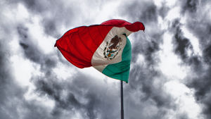 Mexikos flagga.