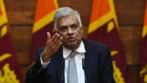 Sri Lankas premiärminister Ranil Wickremesinghe.