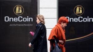 OneCoinin toimisto Sofiassa Bulgariassa.