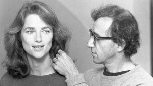 Charlotte Rampling och Woody Allen från filmen Stardust Memories, 1980.