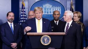 President Trump utlovade bland annat kraftiga skattesänkningar.