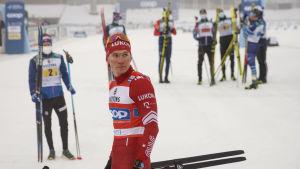 Aleksandr Bolsjunov efter målgång.