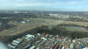 Helsingfors-Malms flygplats sett från luften.