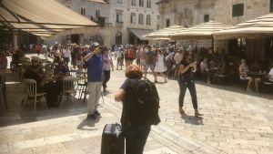 Huvudgatan Stradun i Dubrovniks Gamla stad.